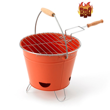 Outdoor BBQ Portable Barbecue Bucket Festival Camping Grill