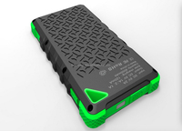 2015 New Arrival 8000mah Mobile Solar Power Bank Charger with Waterproof/Shockproof/Dustproof