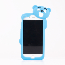 cute bear 3D silicone cell phone case for iphone 6/6s/6plus/6s plus,mobile phone shell for iphone case