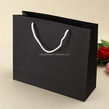 Gloss Lamination Luxury Black Paper Shopping Bag in various sizes