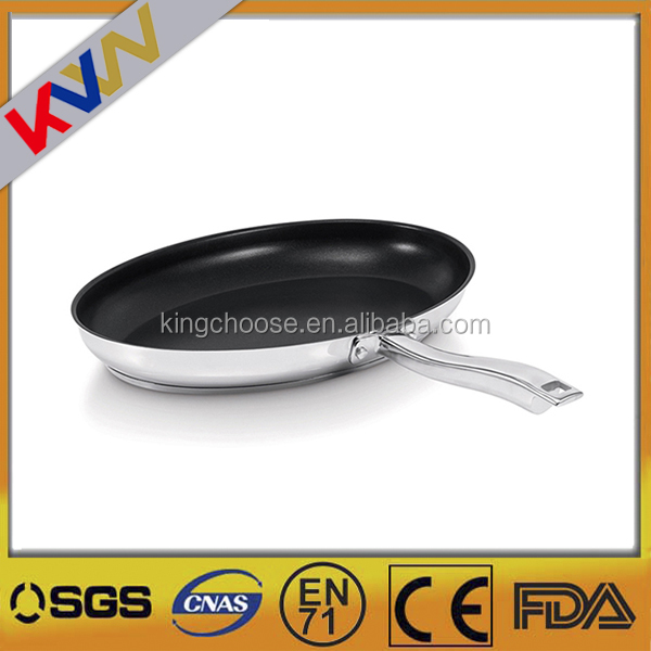 Encapsulated Bottom 201 Stainless Steel Pan Frying Fish Catering Frying Pan Non Stick Hotel Electric Grill Frying Pan