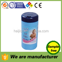 wholesale canister wet wipes cleaning tissue paper for baby, household,kitchen, car, glass etc