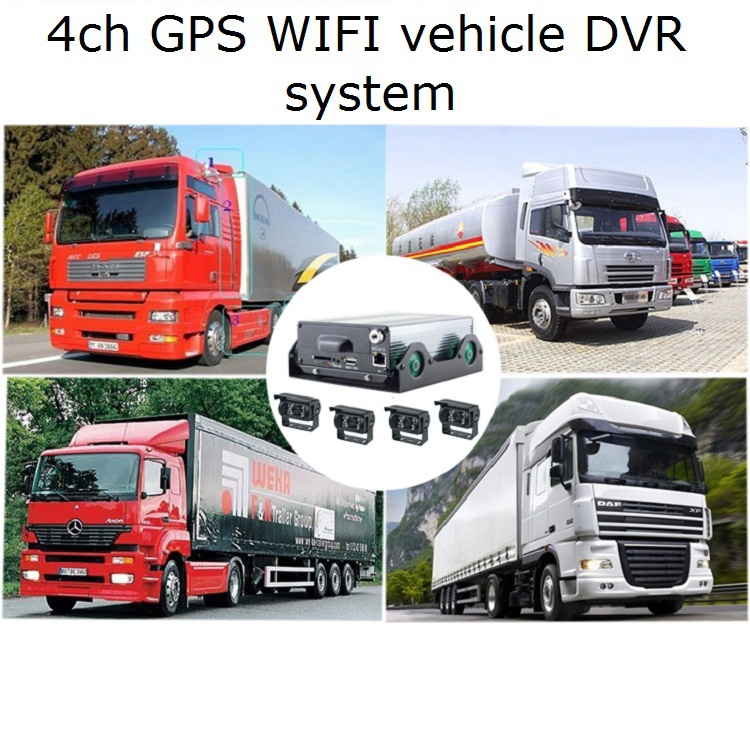 4ch full D1 car gps black box with wifi RJ45 Wan/Net port RS485 for vehicle/car security fleet management