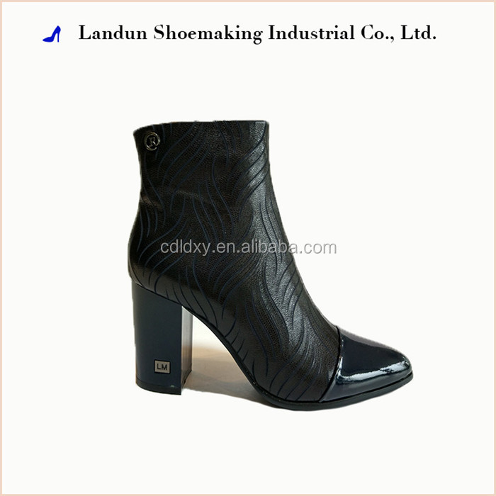 high heel fashion ankle lady drive shaft rubber boot