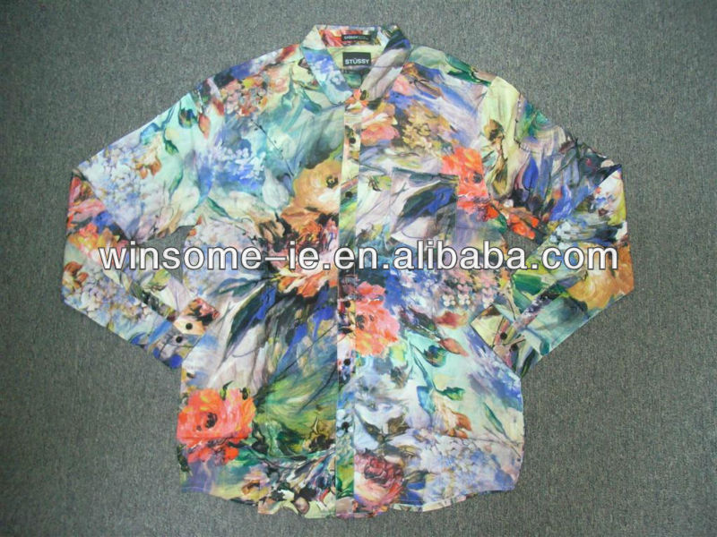 Polyester/Cotton Mens printed shirt