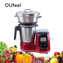 Cooking Food Processor as Soup Maker and Thermo Cooker, with steamer and scale