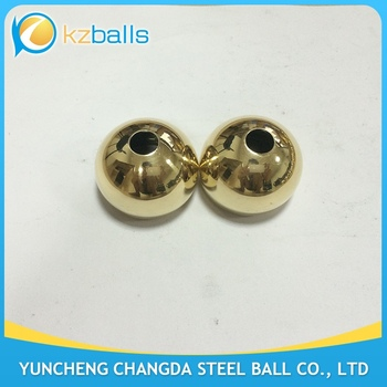 42mm drilled 10mm and 35mm hole brass hollow ball