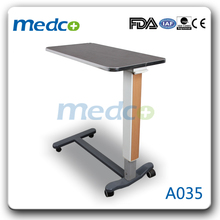 A035 Hot! Bedside adjustable hospital bed table