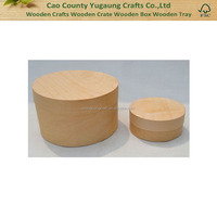 Unfinished Wooden Round Cheese Box