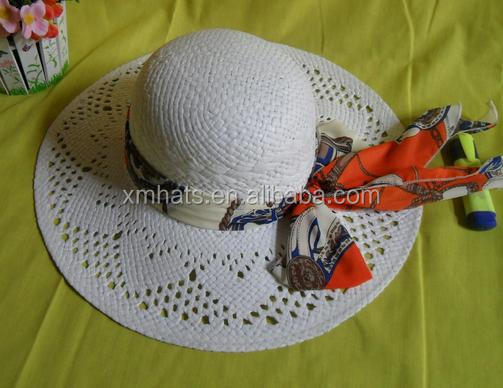 China factory price high grade paper cheap lady straw hat wholesale
