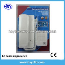 cheap price 2wire audio door phone/door bell with unlocking function