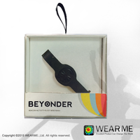 WEARME BEYONDER BRACELET iBeacon Compatible Bluetooth Beacon TPE Bracelet/Wristband OEM Sensor Can Be Added
