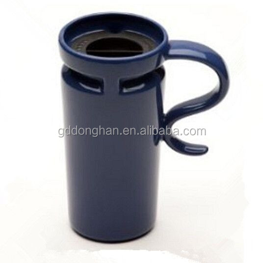 newest designed insulated porcelain travel mug with special handle
