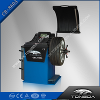 Automatic car wheel balancing and wheel alignment machine