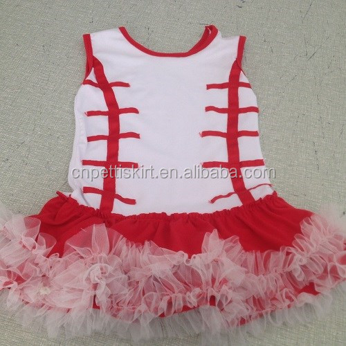 2016 spring white top red ribbon girl dress 100% cotton factory sale cheap price baby girl fashion dress