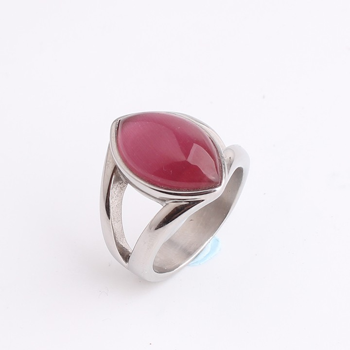 Eyes shape Imitation Ruby punk 316L Stainless Steel finger rings for men women jewelry wholesale