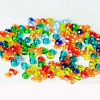 Custom design DIY souvenirs new color glass charm beads for children DIY