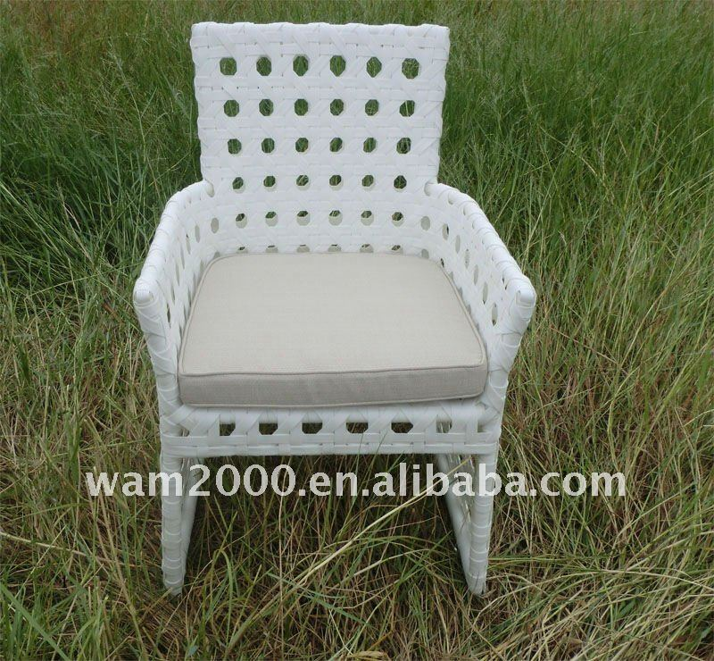 garden rattan circle weaving dining chair for outdoor