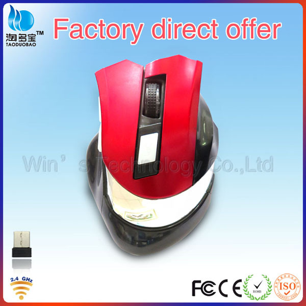 Optical Game Big 6 Buttons USB rf 2.4G Wireless Mouse