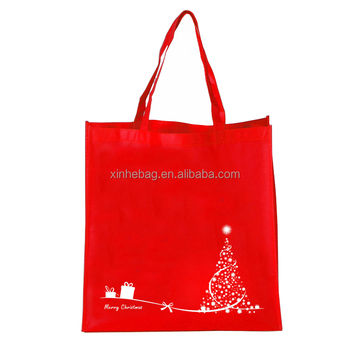 Reusable AZO free christmas shopping non woven bag