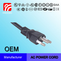 Brazil Three Wire 10A UC Power Cord with Three Pin Plug POWER CORD