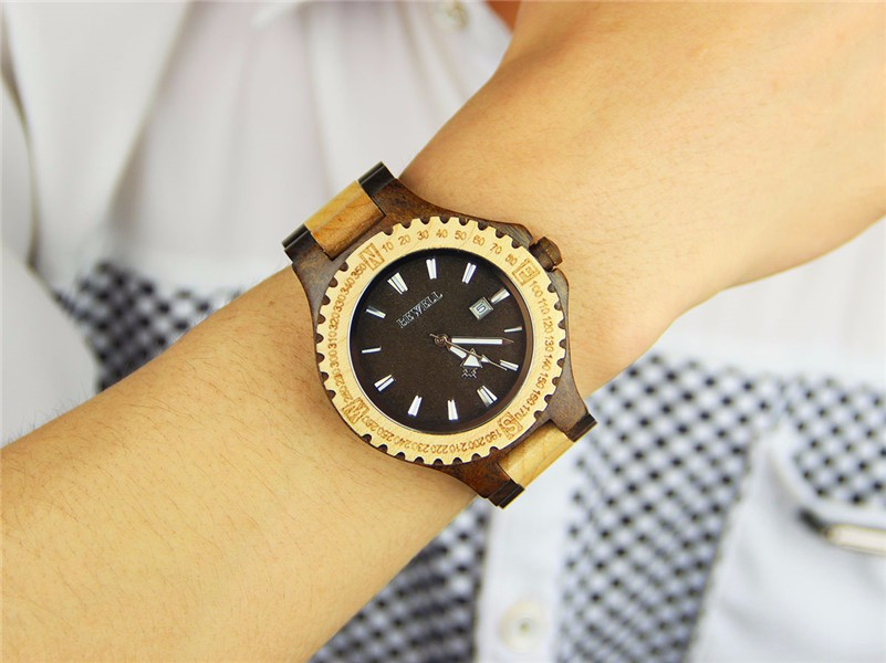 2016 Promotional Wooden Watch 100% Natural Sandalwood Wrist Watches