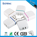 2017 High quality usb mobile travel charger/wall charger for phones