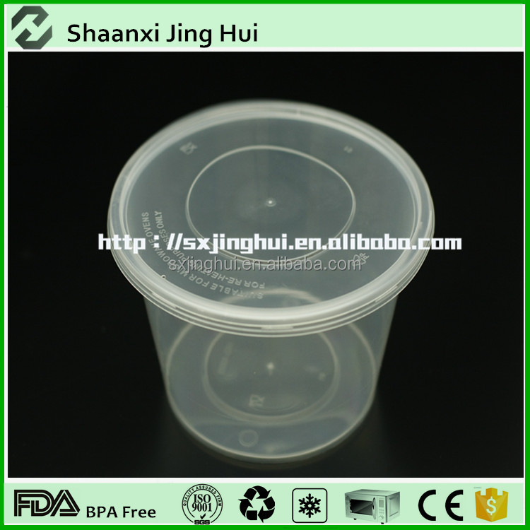 China custom cheap disposable clear pp plastic round salad bowl with lid