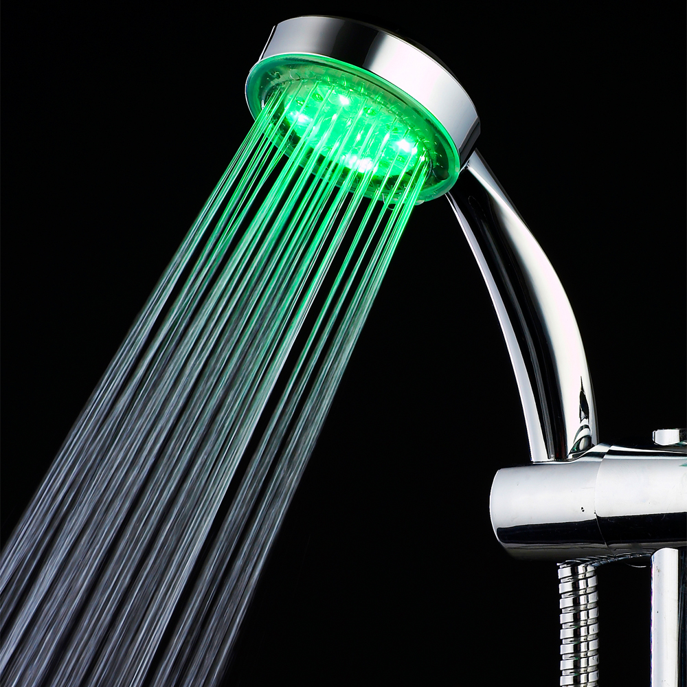 Factory Wholesale Automatic Light RGB Temperature Control Square LED Shower Head