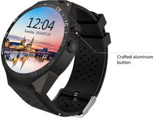 2017 High-end waterproof GPS smart watch KW88 with 3G color touch screen, WIFI camera mobile phone for adult ce rohs listed