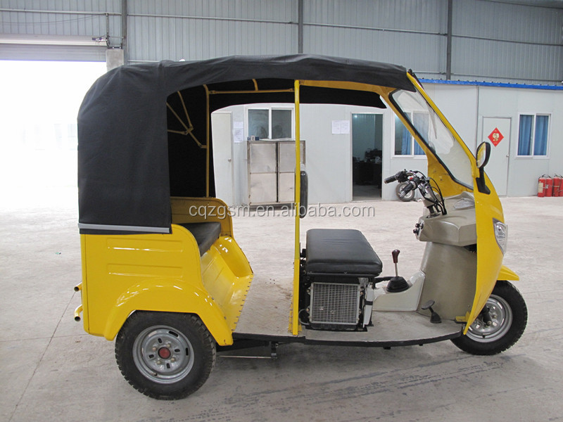 high quality CNG passenger tricycle/gasoline petrol three wheeler