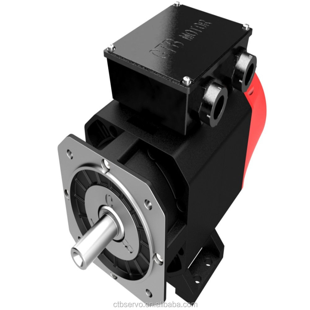 CTB 35.6KW 3400N.m 100 rpmhigh torque low rpm AC permanent magnet synchronous servo electric motor and servo drive