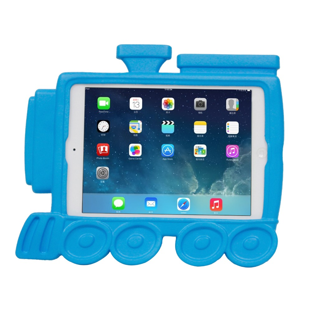sky blue kidproof foam eva case cover for apple ipad mini with kickstand
