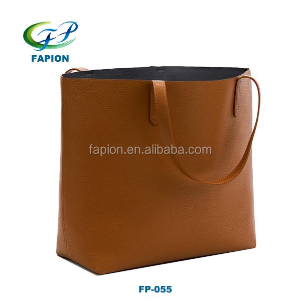 Leather women tote hand bags brand name handbag