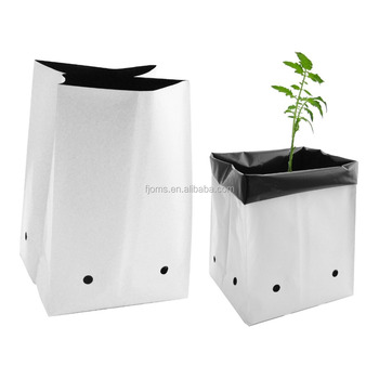 UV stabilized plastic poly grow bag for nursery and seedling bag