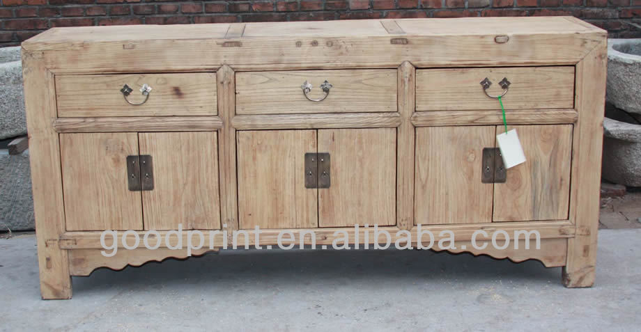 Chinese Antique Elm Long Sideboard Cabinet Asian Furniture - Buy Chinese  Antique Elm Long Sideboard Cabinet Asian Furniture,Asian Hardwood  Furniture,Birch ... - Chinese Antique Elm Long Sideboard Cabinet Asian Furniture - Buy