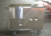 High Class Stainless Steel medical hospital Delivery kitchen Steam Warmer Mobile Food Trolley Cart