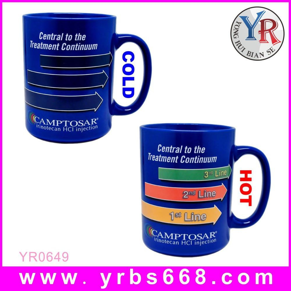 Logo printed color changing mug straight body mug wholesale magic cup sublimation