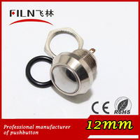 12mm stainless steel mini waterproof momentary n.o. push button switch