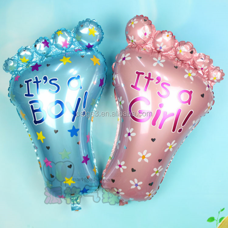 Big Boys And Girls Feet Foil Balloons Baby Shower Decoration Helium Balloons