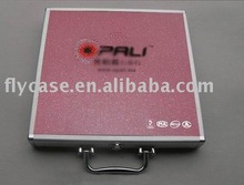 2015 new style aluminium stone box ,quartz stone sample dispaly case with logo print and safe locks