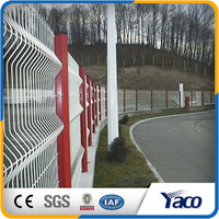 PVC Coated Welded Wire Mesh Fence 3D Security Fence with peach post