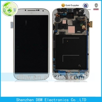 Low price spare parts for samsung galaxy s4 lcd screen i9500 i9505 i337 digitizer with frame assembly