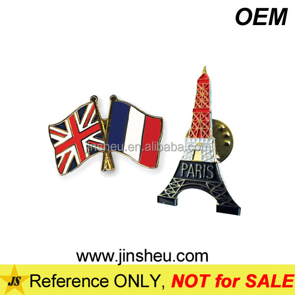 Wholesale High Quality Custom Metal Union Jack Lapel Pin Badge