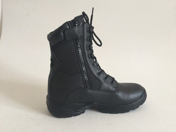 Loveslf fashion black leather army combat boots safety boots botas militares