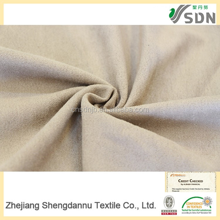 China textile factory supply 100% polyester OEM microfiber upholstery fabric by the yard