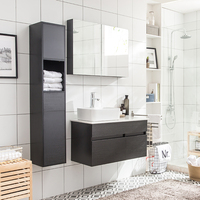 Promotion new design modern plywood bathroom mirror cabinet with cheap price