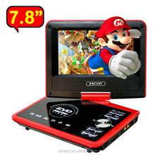 7.8inch Portable DVD Player with TV/GAME/USB/SD CARD/FM RADIO