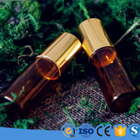 5ml essential oil roll on glass bottle with gold cap