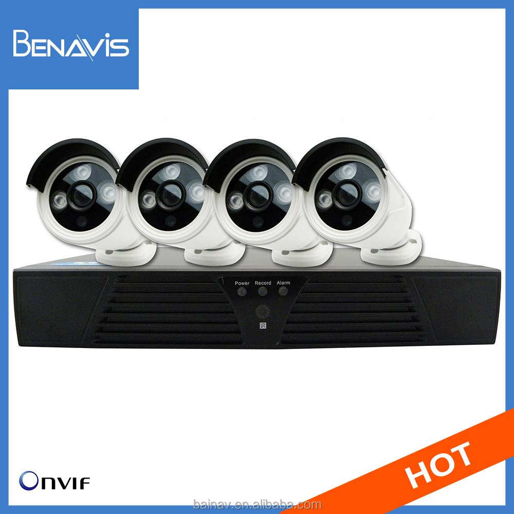 4Ch 1080P Mini Outdoor Home Video Cctv Ip Hd Camera System Security